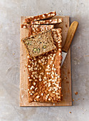 Spelt flake and seed bread with honey