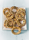 Chickpea breadcrumb rings