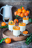 Panna cotta with tangerine jam