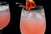 Pink Grapefruit Cocktail close up
