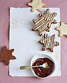 Nougat and redcurrant snowflakes