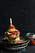 A BLT burger
