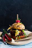 Rote-Bete-Burger mit Linsen