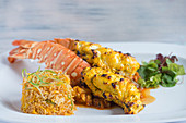 Chargrilled Lobster with Pilau Rice