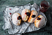Carnival donuts with jam