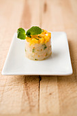 Langoustine tatar with mango and mint