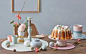 Eierlikörkuchen mit weißer Schokolade zu Ostern