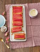 Rhubarb tart for Easter