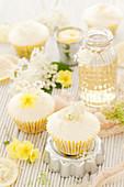 Vegan Elderflower and Lemon Cupcakes