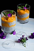 Mango and chia pudding