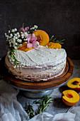 Peach And Rosemary Cake