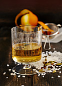Swedish Christmas spiced schnapps with rock sugar and vodka