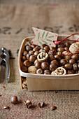 Nuts in a basket