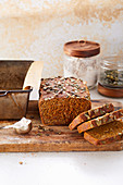 Carrot and green rye bread