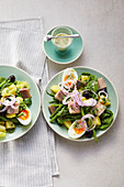 Nicoise salad with herring