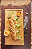 Banh Mi baguette with pork and mayonnaise