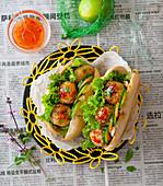 Banh Mi mit Chili-Meatballs (Asien)