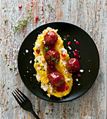 Lamb meatballs with pomegranate seeds