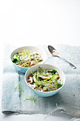 Noodle soup with mizuna
