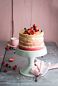Hombre cake – layered almond cake with vanilla buttercream