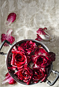 Rosa di gorizia (flower-shaped radicchio cake, Italy)