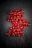 Red Currants on a wooden board