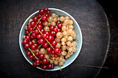 Red and White Currants in a Bowl