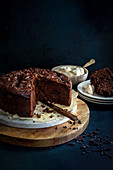 Chocolate Courgette and Date Cake