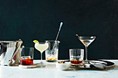 Classic Cocktails, shaken or stirred cocktails