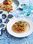 Tomato and herb tart