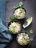 Risotto with chicory and wild herbs