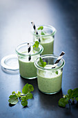 Water cress and buttermilk smoothies