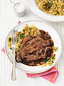 Beef Stifado with Orzo