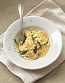 Chicken Ravioli with sage