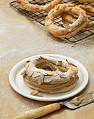 Paris Brest (brandy rings with hazelnut brittle buttercream, France)