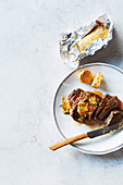 Steak with Korean gochujang butter