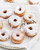 Mini lemon doughnuts