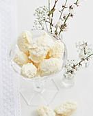 White champagne truffles