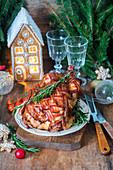 Hähnchen im Schinkenmantel zu weihnachten