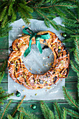 Stollen wreath