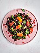 Vegan black rice salad