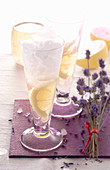 Lavender limoncello with fresh lemon and wine spirit