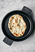 Naan in Cast Iron Pan