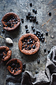 Flourless Chocolate Bluberry Cakes