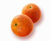 Two blood oranges