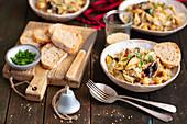 Vegetarian bigos with sauerkraut and chickpeas (Poland)