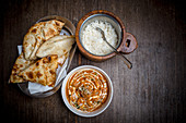 Chicken Makhani with Rice and Naan (India)
