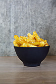 Spicy french fries in a bowl