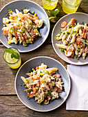 Tuna and pasta salad with yoghurt dressing