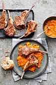 Lamb chops with peperonata